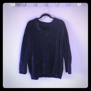 Zara Navy Oversized Sweater